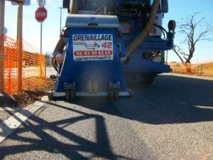 Grenaillage routier